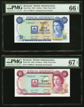 Bermuda Bermuda Government 1; 5; 10; 20; 50 Dollars 1970 Pick 23a; 24a; 25a; 26a; 27a with Matching Low Serial Number