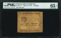 Colonial Notes:Pennsylvania, Pennsylvania March 25, 1775 4s PMG Gem Uncirculated 65 EPQ.. ...