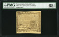 Colonial Notes:Pennsylvania, Pennsylvania April 3, 1772 2s PMG Gem Uncirculated 65 EPQ.. ...