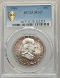 Franklin Half Dollars, 1956 50C MS67 PCGS Secure. PCGS Population: (23/0 and 1/0+). NGC Census: (40/0 and 0/0+). Mintage 4,000,000. ...