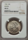 Commemorative Silver, 1936 50C Boone MS65 NGC. NGC Census: (626/316). PCGS Population: (838/485). CDN: $140 Whsle. Bid for problem-free NGC/PCGS ...