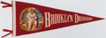 Baseball Collectibles:Others, c. 1950s Jackie Robinson Brooklyn Dodgers Pennant....