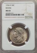 Commemorative Silver, 1936-D 50C Boone MS65 NGC. NGC Census: (396/224). PCGS Population: (579/342). CDN: $170 Whsle. Bid for problem-free NGC/PCG...