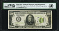 Fr. 2201-E $500 1934 Light Green Seal Low Serial Number 39 Federal Reserve Note. PMG Extremely Fine 40