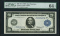 Large Size:Federal Reserve Notes, Fr. 1011b $20 1914 Federal Reserve Note PMG Choice Uncirculated 64 EPQ.. ...
