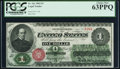 Large Size:Legal Tender Notes, Fr. 16c $1 1862 Legal Tender PCGS Choice New 63PPQ.. ...