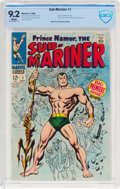 Silver Age (1956-1969):Superhero, The Sub-Mariner #1 (Marvel, 1968) CBCS NM- 9.2 White pages....