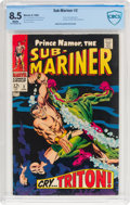 Silver Age (1956-1969):Superhero, The Sub-Mariner #2 (Marvel, 1968) CBCS VF+ 8.5 White pages....