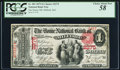 Milford, MA - $1 1875 Fr. 383 The Home NB Ch. # 2275 PCGS Choice About New 58
