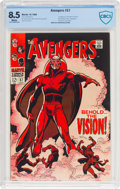 Silver Age (1956-1969):Superhero, The Avengers #57 (Marvel, 1968) CBCS VF+ 8.5 White pages....