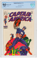 Silver Age (1956-1969):Superhero, Captain America #111 (Marvel, 1969) CBCS VF/NM 9.0 White pages....