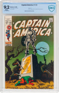 Silver Age (1956-1969):Superhero, Captain America #113 (Marvel, 1969) CBCS NM- 9.2 White pages....