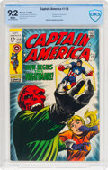 Silver Age (1956-1969):Superhero, Captain America #115 (Marvel, 1969) CBCS NM- 9.2 White pages....