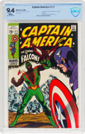 Silver Age (1956-1969):Superhero, Captain America #117 (Marvel, 1969) CBCS NM 9.4 White pages....