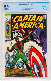 Captain America #117 (Marvel, 1969) CBCS NM 9.4 White pages