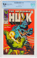 Silver Age (1956-1969):Superhero, The Incredible Hulk #110 (Marvel, 1968) CBCS NM 9.4 White pages....