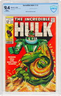 Silver Age (1956-1969):Superhero, The Incredible Hulk #113 (Marvel, 1969) CBCS NM 9.4 White pages....