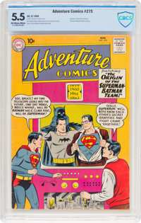 Adventure Comics #275 (DC, 1960) CBCS FN- 5.5 Off-white to white pages