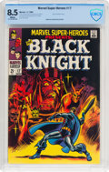 Silver Age (1956-1969):Superhero, Marvel Super-Heroes #17 Black Knight (Marvel, 1968) CBCS VF+ 8.5White pages....