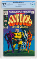 Silver Age (1956-1969):Superhero, Marvel Super-Heroes #18 Guardians of the Galaxy (Marvel, 1969) CBCSNM- 9.2 White pages....
