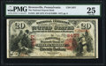 National Bank Notes:Pennsylvania, Brownsville, PA - $20 1875 Fr. 434 The National Deposit Bank Ch. # 2457 PMG Very Fine 25.. ...