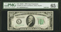 Small Size:Federal Reserve Notes, Fr. 2008-L $10 1934C Federal Reserve Note. Solid 9 Serial Number. PMG Gem Uncirculated 65 EPQ.. ...