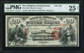 National Bank Notes:Pennsylvania, New Brighton, PA - $20 1875 Fr. 432 The NB of Beaver County Ch. # 632 PMG Very Fine 25 Net.. ...