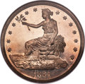 Proof Trade Dollars, 1884 T$1 PR66 NGC. CAC....