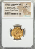 Ancients:Roman Imperial, Ancients: Leo I, Eastern Roman Empire (AD 457-474). AV solidus(20mm, 4.44 gm, 6h). NGC XF 4/5 - 3/5....