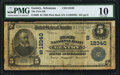 National Bank Notes:Arkansas, Gentry, AR - $5 1902 Plain Back Fr. 609 The First NB Ch. # (S)12340 PMG Very Good 10.. ...