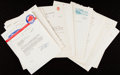 Autographs:Letters, 1950-68 Fresco Thompson Letter Archive (66)....
