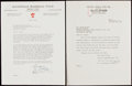 Autographs:Letters, 1950 Branch Rickey Brooklyn Dodgers Letter Lot of 2 - Rickey'sFinal Year in Brooklyn....