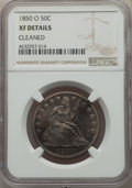 Seated Half Dollars, 1850-O 50C -- Cleaned -- NGC Details. XF. NGC Census: (3/76). PCGS Population: (20/147). CDN: $175 Whsle. Bid for problem-f...