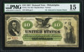 Large Size:Demand Notes, Fr. 7a $10 1861 Demand Note PMG Choice Fine 15.. ...