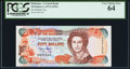 World Currency, Bahamas Central Bank of the Bahamas 50 Dollars 1974 (ND 1992) Pick 55a PCGS Very Choice New 64.. ...