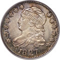 Bust Dimes, 1827 10C Pointed Top 1, JR-8, R.4, MS64 PCGS....