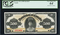 Canadian Currency, DC-19s $500 1911 PCGS Very Choice New 64.. ...