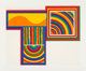 Sol LeWitt (1928-2007) Arcs and Bands in Color: one plate, 1999 Screenprint in colors on Arches 88 paper 31-3/8 x 39-