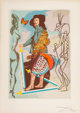 Salvador Dalí (1904-1989) Courtier, from Papillions Anciennes, 1977 Lithograph in colors on Arches paper 29-1/2 x...