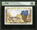 Mali Banque Centrale du Mali 5000 Francs ND (1972-84) Pick 14e PMG Gem Uncirculated 66 EPQ
