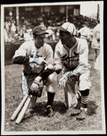 Autographs:Photos, 1936 DiMaggio & Dean Dual-Signed All-Star Game Photograph, PSA/DNA Type II....