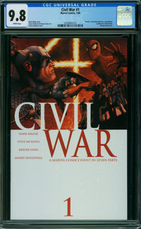 Civil War #1 (Marvel, 2006) CGC NM/MT 9.8 WHITE pages