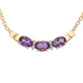 Estate Jewelry:Necklaces, Amethyst, Diamond, Gold Necklace. ...