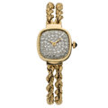 Estate Jewelry:Watches, Lucien Piccard Lady's Diamond, Gold Watch. ...