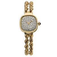 Lucien Piccard Lady's Diamond, Gold Watch