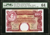 East Africa East African Currency Board 100 Shillings ND (1962-63) Pick 44b PMG Choice Uncirculated 64