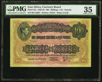 East Africa East African Currency Board 100 Shillings = £5 1.7.1941 Pick 31a PMG Choice Very Fine 35
