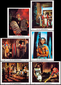"The Ten Commandments (Paramount, R-1973). Near Mint. French Lobby Cards (12) (10.5"" X 8.25""). Drama. ... (Tota..."