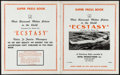 """Movie Posters:Romance, Ecstasy (Jewel Productions, Mid-1930s). Very Fine. Uncut 1st U.S. Release Pressbook (24 Pages, 11"""" x 13.75""""). Romance.. ..."""