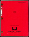 """Movie Posters:Drama, September 30, 1955 (Universal, 1977). Very Fine-. Final DraftScreenplay (98 Pages, 8.5"""" X 11""""). Drama.. ..."""